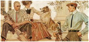 J・C・ライエンデッカー – 1910年のアロー・カラーの広告 (The J. C. Leyendecker Poster Bookより)のサムネイル画像