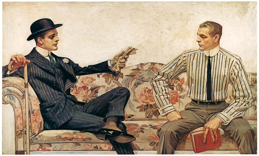 J. C. Leyendecker – Arrow Collar advertisement, 1912. Courtesy Cluett. Peabody & Co., Inc.  [from The J. C. Leyendecker Poster Book]