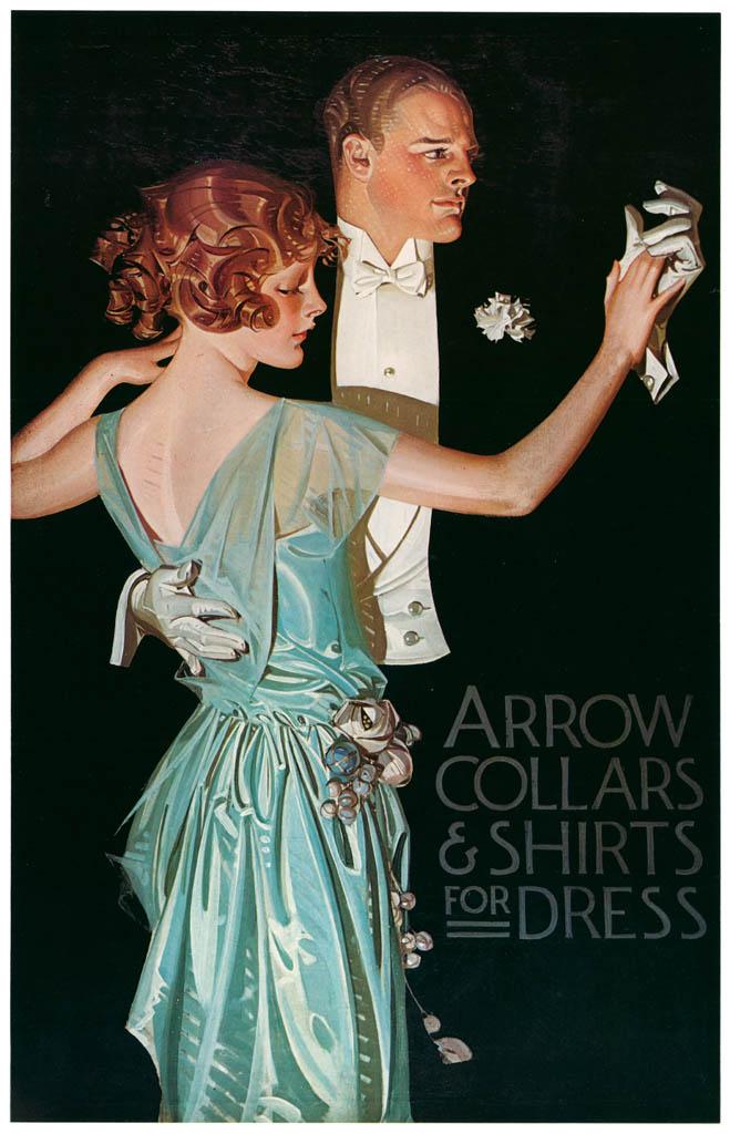 J. C. Leyendecker – Arrow Collar advertisement, ca. 1913. Courtesy Cluett. Peabody & Co., Inc.  [from The J. C. Leyendecker Poster Book]