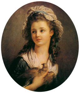 thumbnail Jean-Honoré Fragonard – YOUNG GIRL WITH A DOVE [from Fragonard]