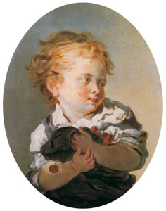 thumbnail Jean-Honoré Fragonard – CHILD HOLDING CHERRIES [from Fragonard]