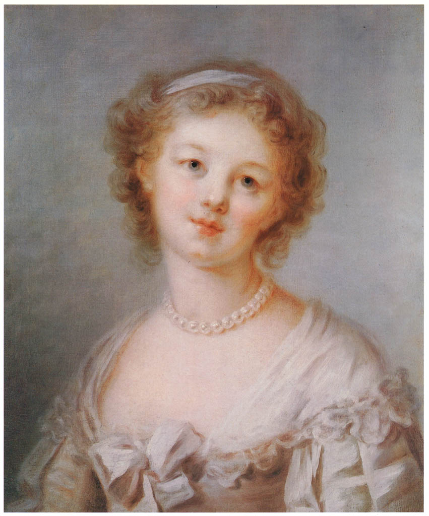Jean-Honoré Fragonard – YOUNG WOMAN WITH A PEARL NECKLACE [from Fragonard]