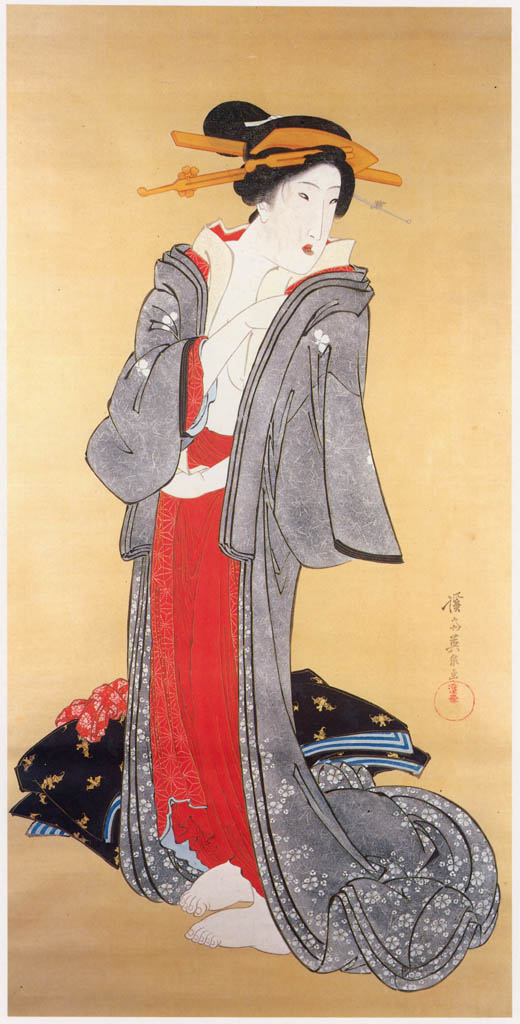 Keisai Eisen – Dressing up [from The Exhibition of Keisai Eisen in memory of the 150th anniversary after his death]