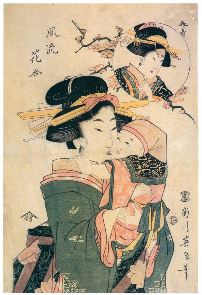 Keisai Eisen – Fûryû Hana-awase [from The Exhibition of Keisai Eisen in memory of the 150th anniversary after his death]