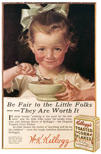 thumbnail J. C. Leyendecker – Kellogg's Corn Flakes advertisement, 1917. Courtesy Kellogg Co. [from The J. C. Leyendecker Poster Book]