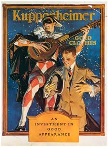 J・C・ライエンデッカー – クッペンハイマーの広告 (The J. C. Leyendecker Poster Bookより)のサムネイル画像