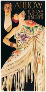J・C・ライエンデッカー – 男性とスパニッシュショールを身につけた女性 [1926年のアロー・カラーの広告] (The J. C. Leyendecker Poster Bookより)のサムネイル画像