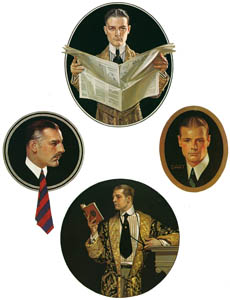 thumbnail J. C. Leyendecker – Arrow Collar advertisements. Courtesy Cluett. Peabody & Co., Inc. [from The J. C. Leyendecker Poster Book]