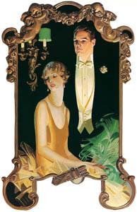 J・C・ライエンデッカー – 男性と着席する淑女 (The J. C. Leyendecker Poster Bookより)のサムネイル画像