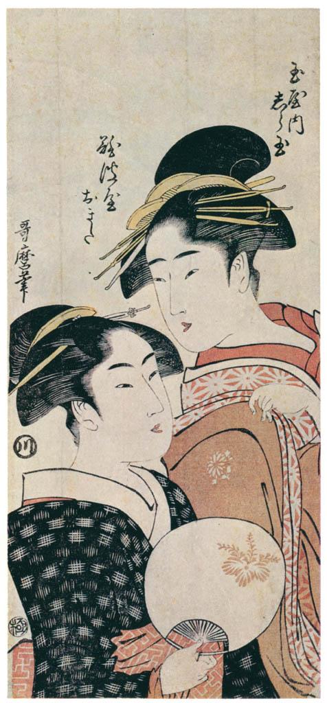 Kitagawa Utamaro – Shiratama of the Tamaya and Naniwaya Okita [from Ukiyo-e shuka. Museum of Fine Arts, Boston III]