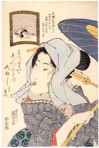 渓斎英泉 – はつ雪 (渓斎英泉展 没後150年記念より)のサムネイル画像