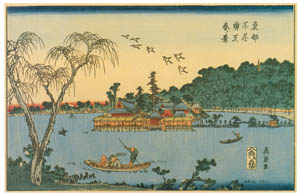 thumbnail Keisai Eisen – Spring sight at Shinobazu Benten Shrine in the Eastern Capital [from The Exhibition of Keisai Eisen in memory of the 150th anniversary after his death]