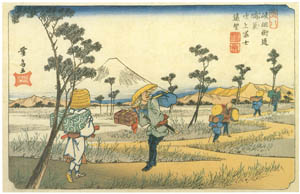 thumbnail Keisai Eisen – Kiso Kiadô Highway : Distant view of Mount Fuji from Kônosu [from The Exhibition of Keisai Eisen in memory of the 150th anniversary after his death]