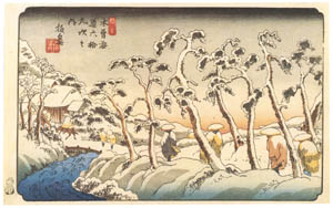 thumbnail Keisai Eisen – Sixty-nine Stations of Kiso Kaido : Itahana [from The Exhibition of Keisai Eisen in memory of the 150th anniversary after his death]