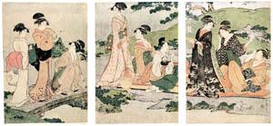 thumbnail Kitagawa Utamaro – Women's Picnic beside a Stream [from Ukiyo-e shuka. Museum of Fine Arts, Boston III]