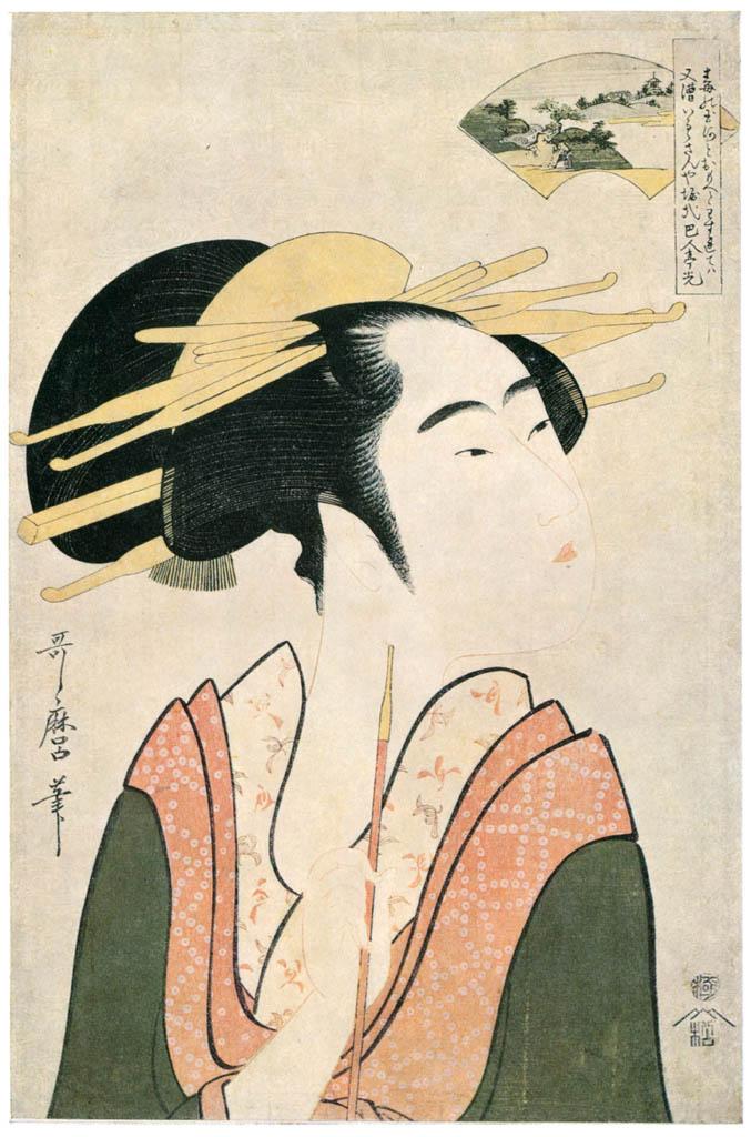 Kitagawa Utamaro – The Kôya Jewel River, from an untitled series of Six Jewel Rivers [from Ukiyo-e shuka. Museum of Fine Arts, Boston III]