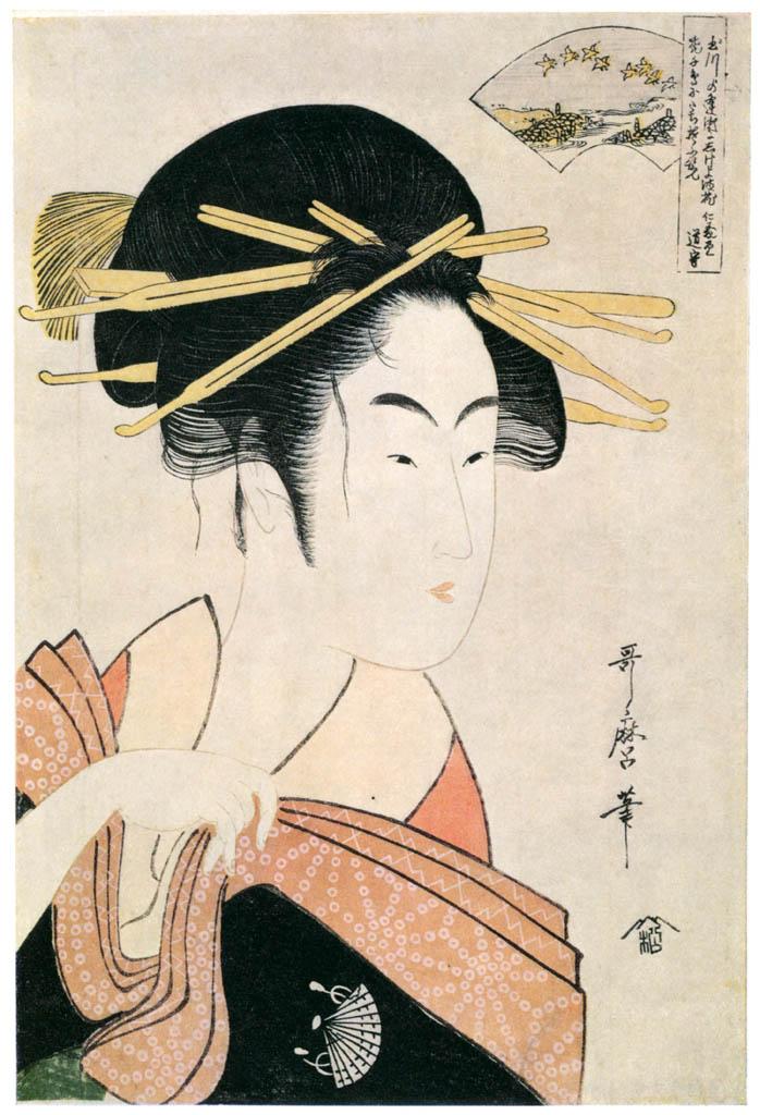 Kitagawa Utamaro – The Noda Jewel River, from an untitled series of Six Jewel Rivers [from Ukiyo-e shuka. Museum of Fine Arts, Boston III]