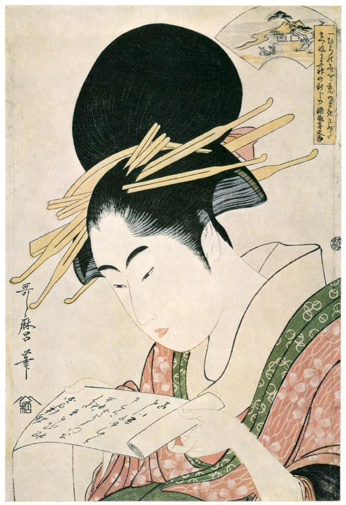Kitagawa Utamaro – The Cloth-fulling Jewel River, from an untitled series of Six Jewel Rivers [from Ukiyo-e shuka. Museum of Fine Arts, Boston III]