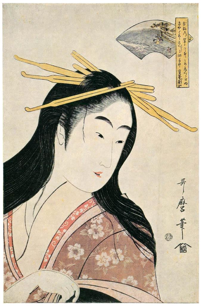 Kitagawa Utamaro – The Chôfu Jewel River, from an untitled series of Six Jewel Rivers [from Ukiyo-e shuka. Museum of Fine Arts, Boston III]