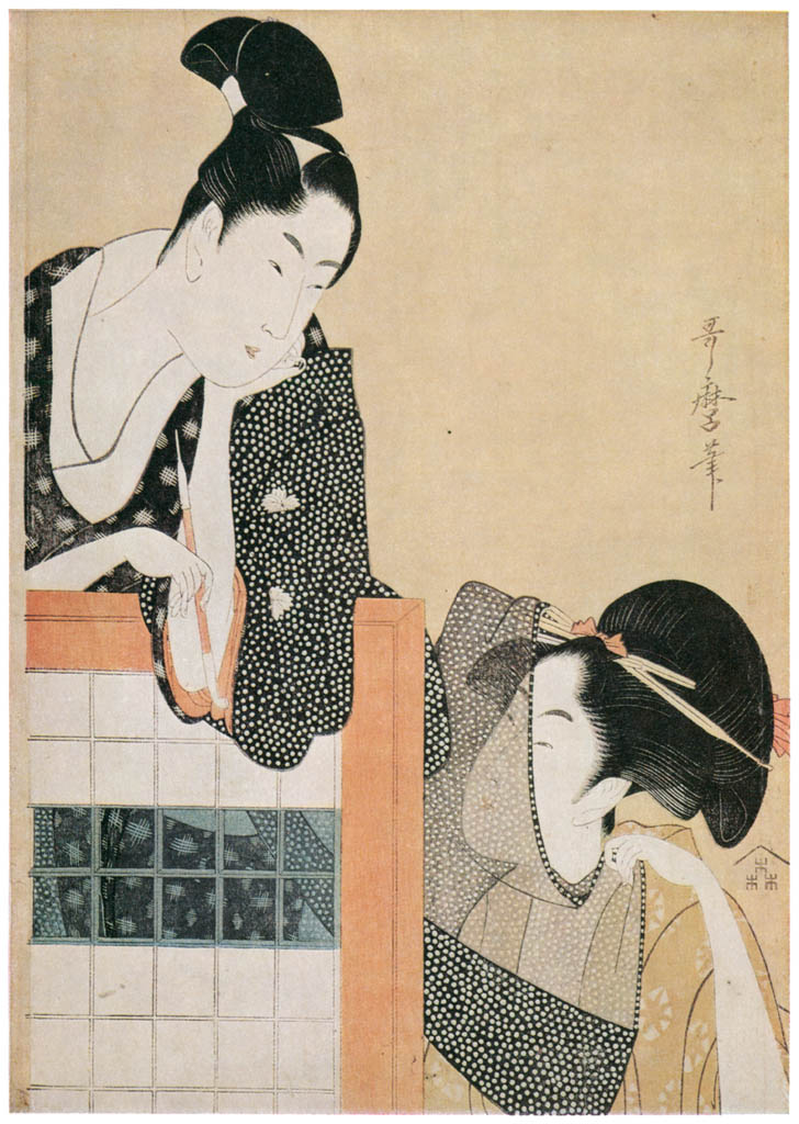 Kitagawa Utamaro – Couple with a Standing Screen [from Ukiyo-e shuka. Museum of Fine Arts, Boston III]