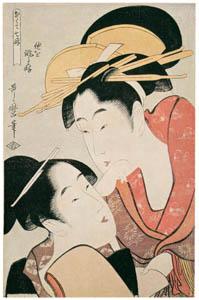 thumbnail Kitagawa Utamaro – The Habit of Criticizing Others, from the series Seven Bad Habits [from Ukiyo-e shuka. Museum of Fine Arts, Boston III]