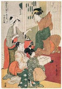 喜多川歌麿 – 絵兄弟・鵺退治 (浮世絵聚花 ボストン美術館3 歌麿より)のサムネイル画像
