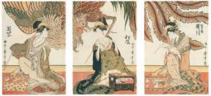 thumbnail Kitagawa Utamaro – ourtesans of the Matsuba-rô: Utagawa, Matsukaze, Wakamurasaki [from Ukiyo-e shuka. Museum of Fine Arts, Boston III]