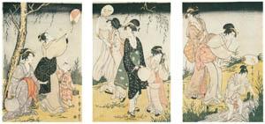 喜多川歌麿 – 蛍狩り (浮世絵聚花 ボストン美術館3 歌麿より)のサムネイル画像