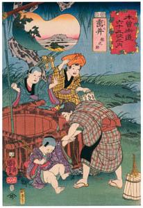 歌川国芳 – 木曽街道六十九次之内 埀井 猿之助 (The Sixty-nine Stations of the Kisokaidoより)のサムネイル画像