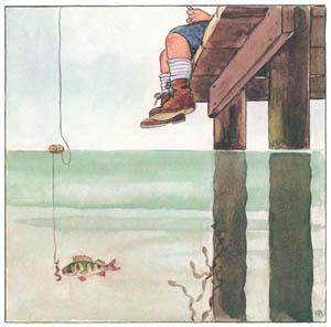 エルサ・ベスコフ – 挿絵3 (しりたがりやのちいさな魚のお話より)のサムネイル画像