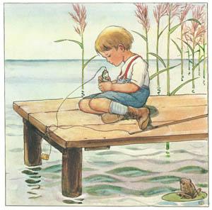 エルサ・ベスコフ – 挿絵4 (しりたがりやのちいさな魚のお話より)のサムネイル画像