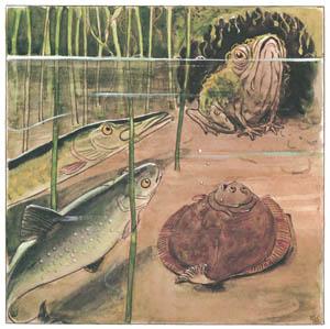 エルサ・ベスコフ – 挿絵7 (しりたがりやのちいさな魚のお話より)のサムネイル画像