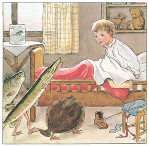 エルサ・ベスコフ – 挿絵9 (しりたがりやのちいさな魚のお話より)のサムネイル画像