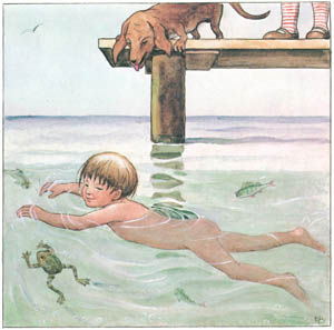 エルサ・ベスコフ – 挿絵12 (しりたがりやのちいさな魚のお話より)のサムネイル画像