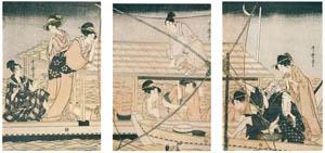 喜多川歌麿 – 四手網 (浮世絵聚花 ボストン美術館3 歌麿より)のサムネイル画像