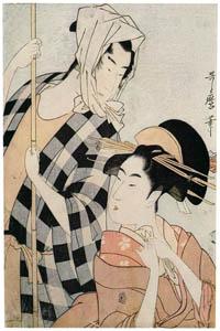 thumbnail Kitagawa Utamaro – Beauty and Boatman [from Ukiyo-e shuka. Museum of Fine Arts, Boston III]