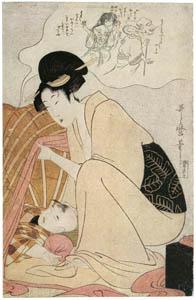 喜多川歌麿 – 化物の夢 (浮世絵聚花 ボストン美術館3 歌麿より)のサムネイル画像