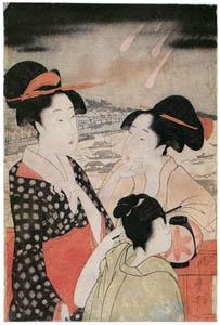 thumbnail Kitagawa Utamaro – Women Viewing Fireworks at Ryôgoku Bridge (Left) [from Ukiyo-e shuka. Museum of Fine Arts, Boston III]