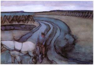 thumbnail Piet Mondrian – Aan den arbeid/Op't land [from Mondrian: 1872-1944: Structures in Space]