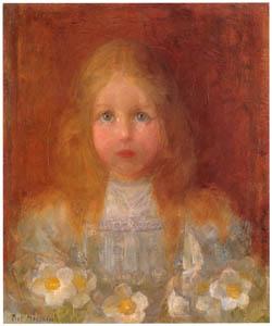 ピート・モンドリアン – 少女と花 (ピート・モンドリアン 1872-1944 虚空の楼閣より)のサムネイル画像