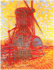 ピート・モンドリアン – 日の当たる風車 (ピート・モンドリアン 1872-1944 虚空の楼閣より)のサムネイル画像
