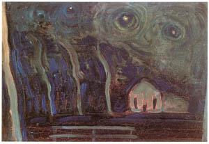 ピート・モンドリアン – 夜の風景 (ピート・モンドリアン 1872-1944 虚空の楼閣より)のサムネイル画像