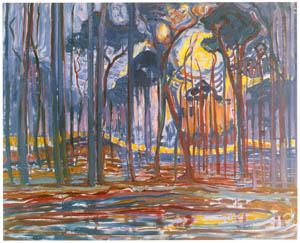 ピート・モンドリアン – エレ近郊の森 (ピート・モンドリアン 1872-1944 虚空の楼閣より)のサムネイル画像