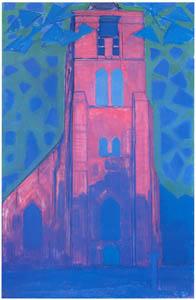 ピート・モンドリアン – ドームブルフの教会 (ピート・モンドリアン 1872-1944 虚空の楼閣より)のサムネイル画像