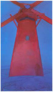 ピート・モンドリアン – 赤い風車 (ピート・モンドリアン 1872-1944 虚空の楼閣より)のサムネイル画像