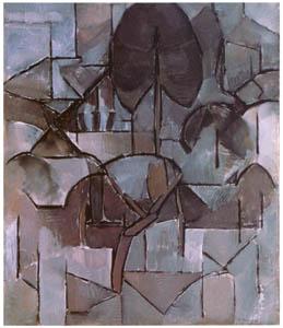 ピート・モンドリアン – 木々のある風景 (ピート・モンドリアン 1872-1944 虚空の楼閣より)のサムネイル画像