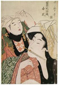 thumbnail Kitagawa Utamaro – Mistress Style, from the series The Connoisseur of Present-day Customs [from Ukiyo-e shuka. Museum of Fine Arts, Boston III]