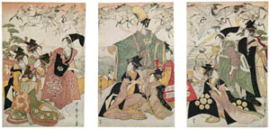 thumbnail Kitagawa Utamaro – Parody of the Story of Yoritomo Releasing Cranes at Yuigahama [from Ukiyo-e shuka. Museum of Fine Arts, Boston III]