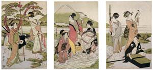 喜多川歌麿 – 富士山麓の鷹狩り (浮世絵聚花 ボストン美術館3 歌麿より)のサムネイル画像