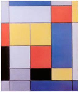 ピート・モンドリアン – 赤と青と黄緑のコンポジション (ピート・モンドリアン 1872-1944 虚空の楼閣より)のサムネイル画像